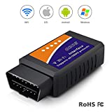 elm327 software - WiFi OBD2 Scanner, OBD2 ELM327 WiFi Scanner, Wireless OBD2 Code Reader, OBD2 scan Tool, iOS OBD2 Scanner for iPhone/Ipad/Mac, OBDII Diagnostic Scan Tool for Android Smartphone/Tablet