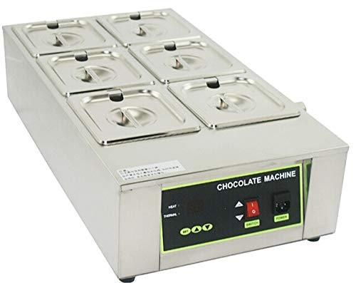 (Six Pans Dry Well Bain Marie Chocolate Tempering Melter 110V 1000W Automotive Temperature Control )