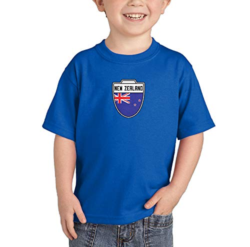 New Zealand - Country Soccer Crest Infant/Toddler Cotton Jersey T-Shirt (Royal Blue, 18 Months)