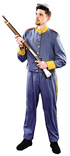 Men's Enlisted Confederate Uniform Costume Blue and Yellow -