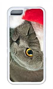 Cute kitten cat DIY Custom white Case for iphone 5C by Cases