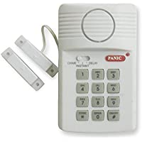 Westek SEC400 Wireless Magnetic Window Alarm with Programmable Keypad,