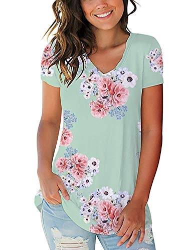 Women Tshirts Tops Blouse Spring Simple Ladies Lightweight Holiday T-Shirts Plus Size