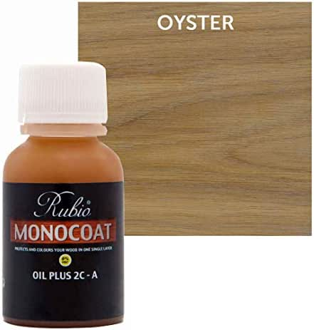 Rubio Monocoat Oil Plus 2C-A Sample Wood Stain Oyster 20ml