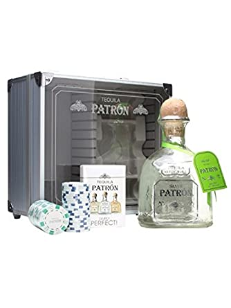 Patron Silver Tequila Gift / Poker Gift Set: Amazon.co.uk: Grocery