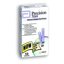 Precision Xtra Ketone Test Strips, 10 Test Strips