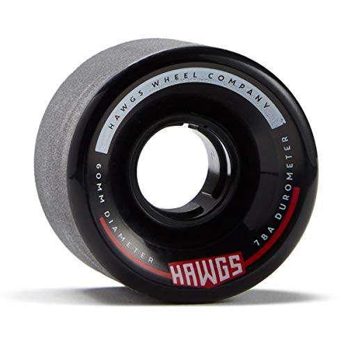Hawgs Chubby Hawgs Longboard Wheels - 60mm 78a - Black (Hawg Wheels)