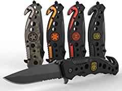 The Swiss Safe Tactical Knife for First Responders and Emergency Rescue Personnel.Convenient Pocket Size Five inches folded length, includes convenient pocket clip for multiple attachment options. Spring assisted blade provides more secure op...
