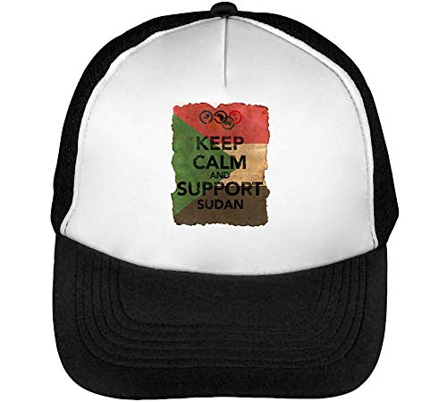 Hombre Calm Keep Vintage Support Gorras Negro Beisbol Background Snapback 1GD Flag Blanco Sudan xq8Sq
