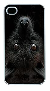 IPhone 4S Cases Big Face Bat Head Polycarbonate Hard Case Back Cover for iPhone 4/4S White