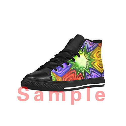 Design Importato Balena Pelle Tela Action Sneaker CHEESE Comoda Aquila Custom da High Scarpe Bella Donna Top in TFqnd6fS