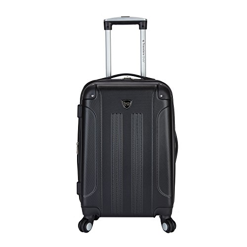 Travelers Club Luggage Chicago 20″ Hardside Expandable Carry-on Spinner, Black, One Size