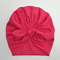Touca Turbante Bebê Zoe Malha Gel Laço Pink