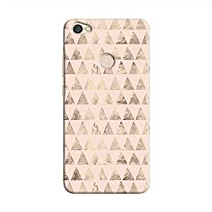 Cover It Up - Brown Light Pink Triangle Tile Redmi Note 5A Hard Case