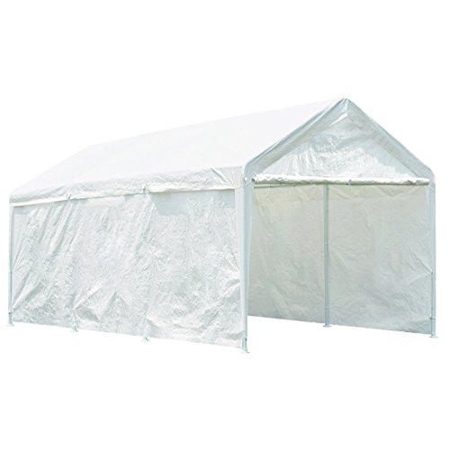 Quictent 20' x 10' Heavy Duty Carport Gazebo Canopy Party Tent Garage Car Shelter (10' X 20' Shelter)