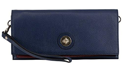 Montte Di Jinne, sac à main bleu marine / rouge foncé pour femmes