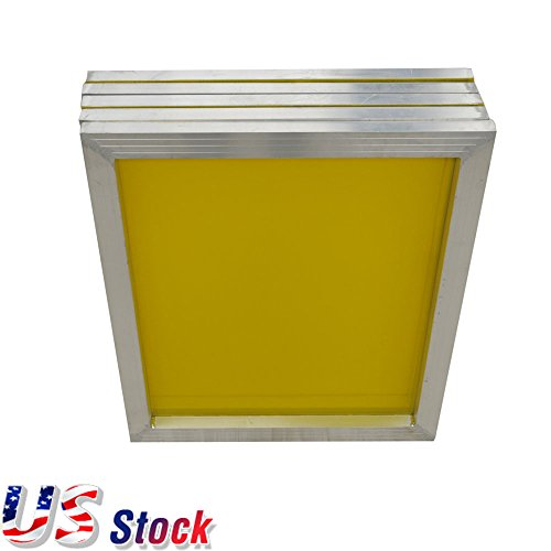 US Stock - 6pcs 20'' x 24'' Aluminum Frame Printing Screens With 230 Yellow Mesh for Screen Printing Silkscreen by H-E