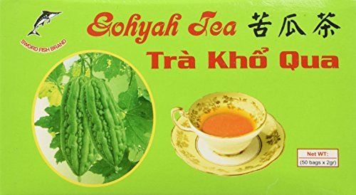 Gohyah Tea Bitter Melon (50 Tea Bags) by K & M (Bitter Melon Tea)