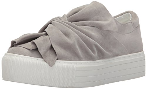 (Kenneth Cole New York Women's Aaron Platform Sneaker Twisted Bow Suede Fashion, Light Grey, 8 M US )