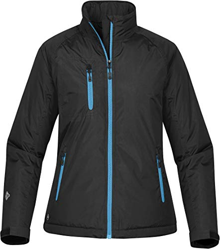 Stormtech Women's Bolt Thermal Shell - XBT-1W, Black/Electric Blue, Small