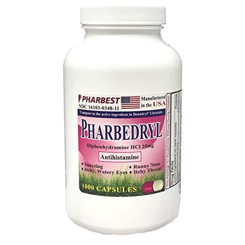 Generic Benadryl Allergy - Diphenhydramine (25mg) - 1000 -