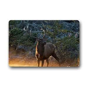 """elk deer Doormat Outdoor Indoor 23.6""""x15.7"""" about 59.9cmx39.8cm"""