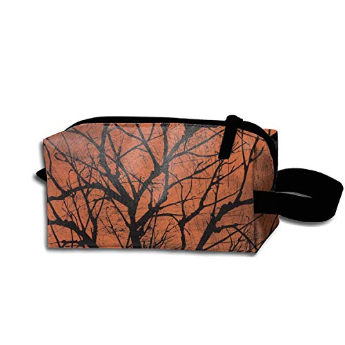 JONHBKD Halloween Creepy Tree Portable Travel Cosmetic Bags Makeup Pouch Clutch Bag