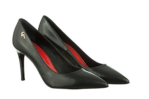 Vivyan Mori Shoes Gianrico K6032 Women's Court Black black wvf7ZSq7x