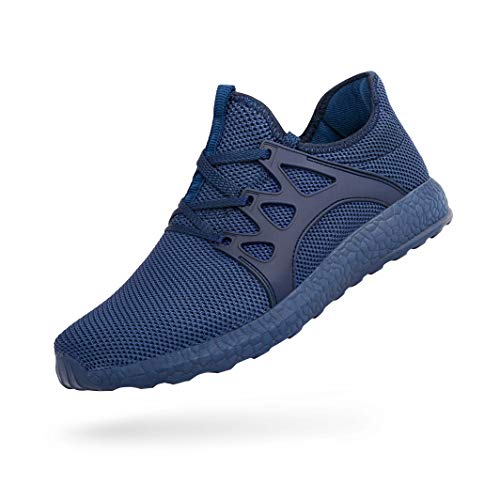 QANSI Men's Casual Shoes Fashion Sneakers Flexible Athletic Sports Running Gym Shoes Blue 10.5 M US