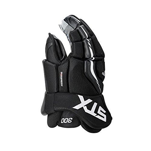 Hockey In Line Gloves (STX Surgeon 300 Junior Ice Hockey Gloves, Black/Black, 12