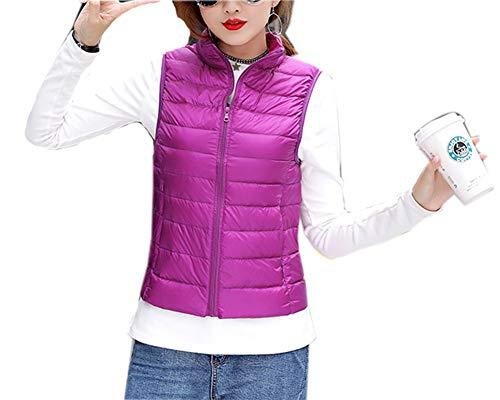 081d8b8f203b À Violet Ultra Compressible Manteau Femme Sans Blouson Doudoune Manches En Capuche  Hiver Courte Veste Légère ...