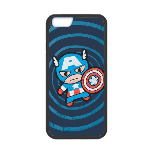 Fayruz- Personalized Protective Hard Textured Rubber Coated Cell Phone Case Cover Compatible with iPhone 6 & iPhone 6S - Captain America F-i5G684