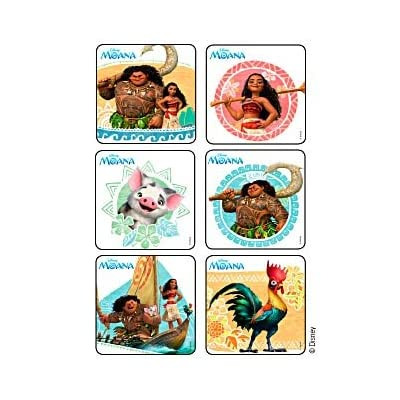 ONE STOP 45 Pack Stickers Disney Moana Birthday Party Supplies: Toys & Games