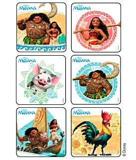 45 pack stickers Disney Moana Birthday Party Supplies