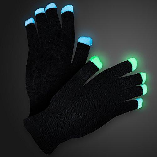 Soft Black Light Show LED Gloves (Set of 12) (Blacklight Gloves)