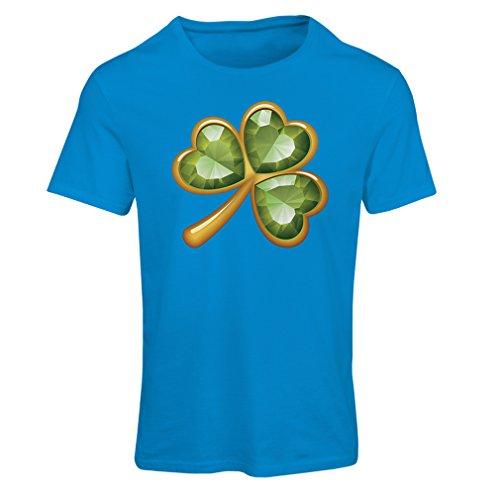 Camiseta mujer Irish shamrock St Patricks day clothing Azul Multicolor