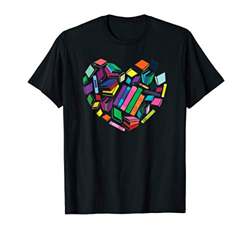 Heart of Books Non-Profit T-Shirt Support Books for Kids