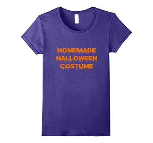 Womens Homemade Halloween Costume T-Shirt Large Purple