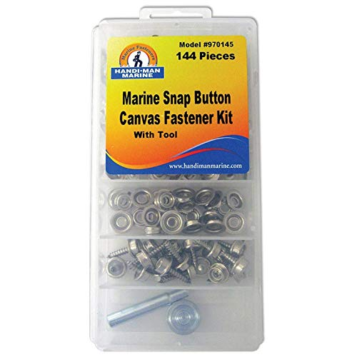 Handi-Man Canvas Fastner & Tool Kit - 144 Pieces