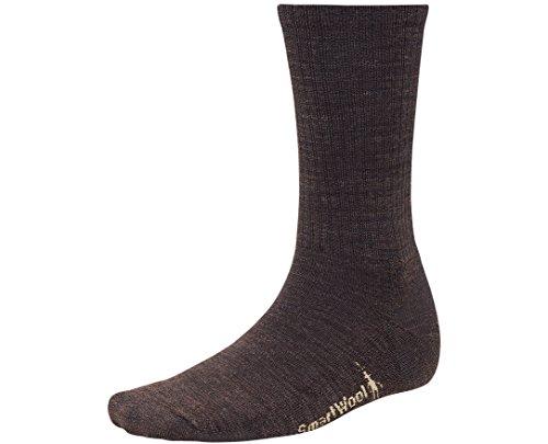 SmartWool Men's Heathered Rib Socks (Chestnut) - Socks Smart Men