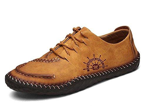 SHIXR Chaussures de sport de bateau chaussures hommes de British hommes vie quotidienne des jeunes en milieu urbain chaussures plates rétro chaussures , golden yellow , 40