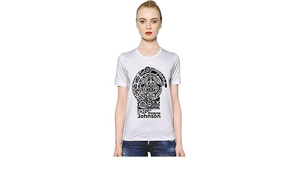 Dwayne Johnson Tattoo La camiseta de las mujeres Large: Amazon.es ...