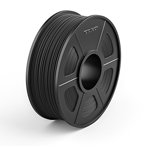 TOTALPACK 3D ABS 1.75mm Printing Filament For 3D Printers-Universal, Low Warp & Easy To Print Thermoplastic Filament, Dimensional Accuracy +/-0.02mm, Perfect For Beginners & Pros-1kg Spool, Black-1 - Nerd Diy