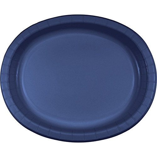 (Club Pack of 96 Navy Blue Disposable Paper Banquet Dinner Plates 12