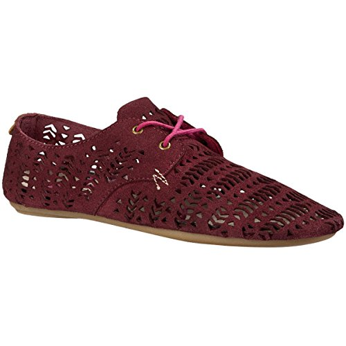 Sanuk Women's Bianca Perf Dusty Boysenberry Flat 6 B (M)