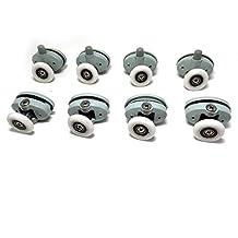 Set of 8 Single Shower Door ROLLERS /Runners /Wheels φ23/25mm in Diameter,Two Screw Distance is :27mm