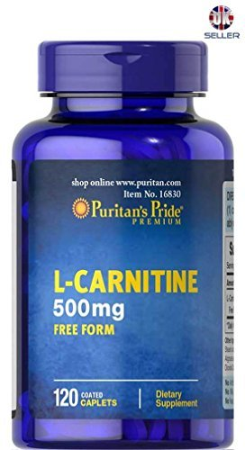 L-Carnitine 500mg FREE FORM 120 Coated Caplets For Sale
