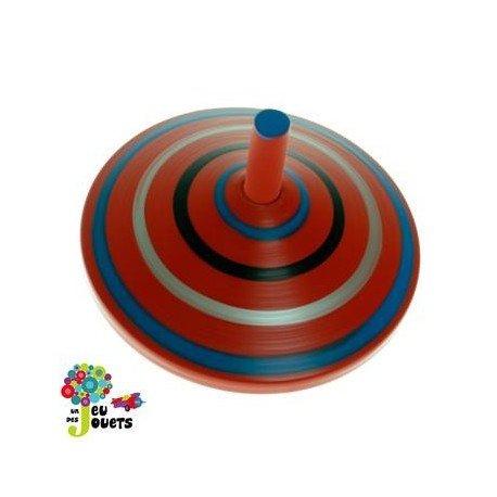 Jouet Toupie en bois coloré Diamètre 5 cm Enfant 3 ans + - Rouge Legler