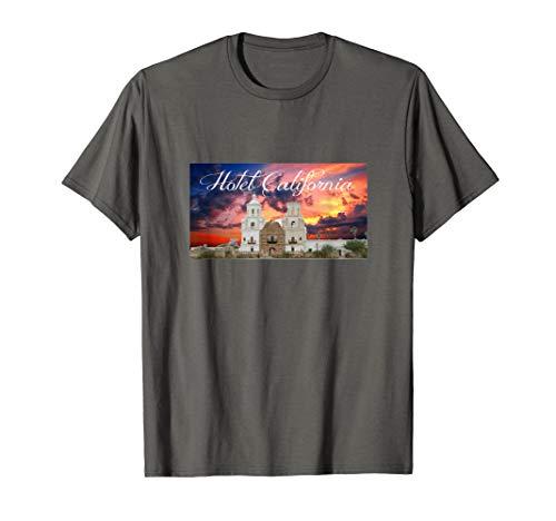 HOTEL CALIFORNIA SHIRT Sunset Heart Detail T-Shirt 70s Music