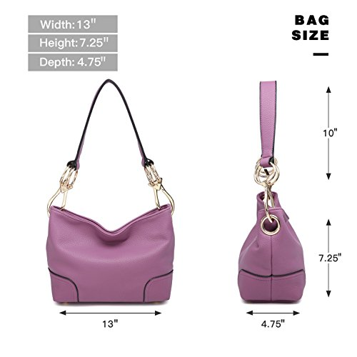 Women PU Bag Tote Classic Small Purse Ladies grey Big Hobo Large Handbag Snap Shoulder Leather Hook wzrtnqIt